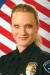 Officer Heather Stricklin of the Brighton, Colorado Police Department used a blanket and tarp in conjunction with her own body to shield a victim of a vehicle crash from flames. Stricklin was a Bulletin Notes recipient in June 2010.
