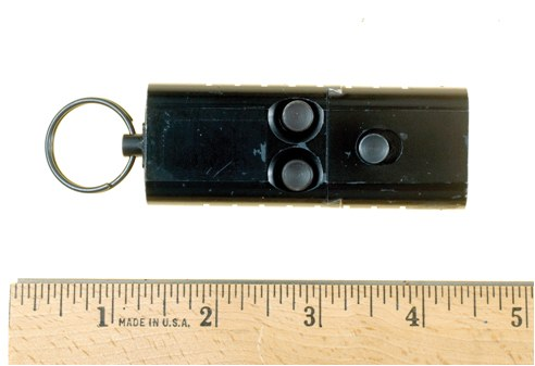 This item was originally designed as a tear gas gun. The chambers were enlarged to accept a pistol cartridge.