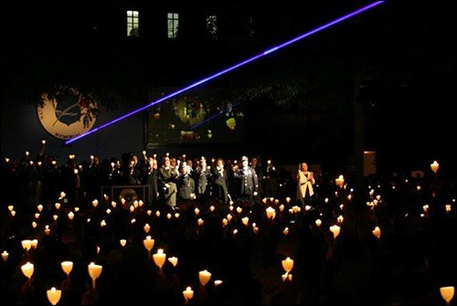 Vigil at the National Law Enforcement Officers Memorial in Washington, D.C.