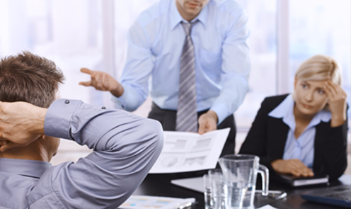 Employees meet with their corporate leader to be led in a leadership capacity.