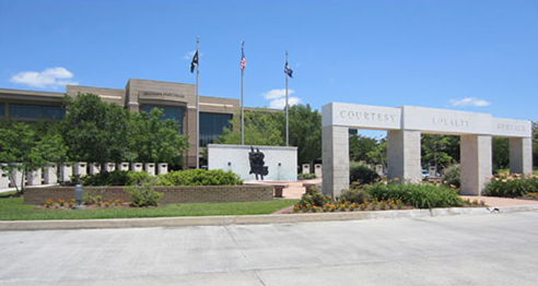 Front depiction of the Louisiana State Police Memorial.
