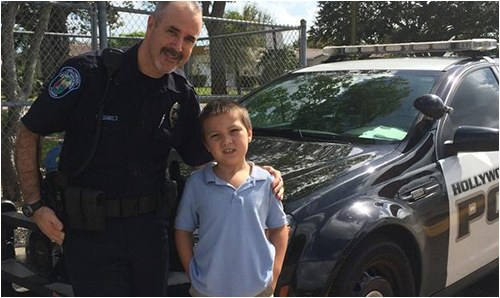Hollywood Police Officer with Student