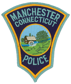 The interesting shape of the Manchester, Connecticut, Police Department patch resembles a white mulberry leaf, commonly fed upon by the silkworms providing the silk that contributed to the growth, culture, and fame of the town. Named after the major textile center in England, Manchester was the center of the silk industry throughout the 19th and early 20th century.