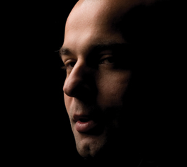 Angled Profile of Shadowed Man