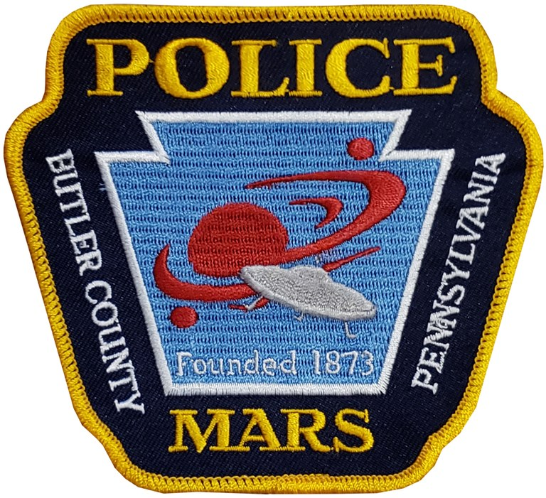The shoulder patch of the Mars, Pennsylvania, Police Department.