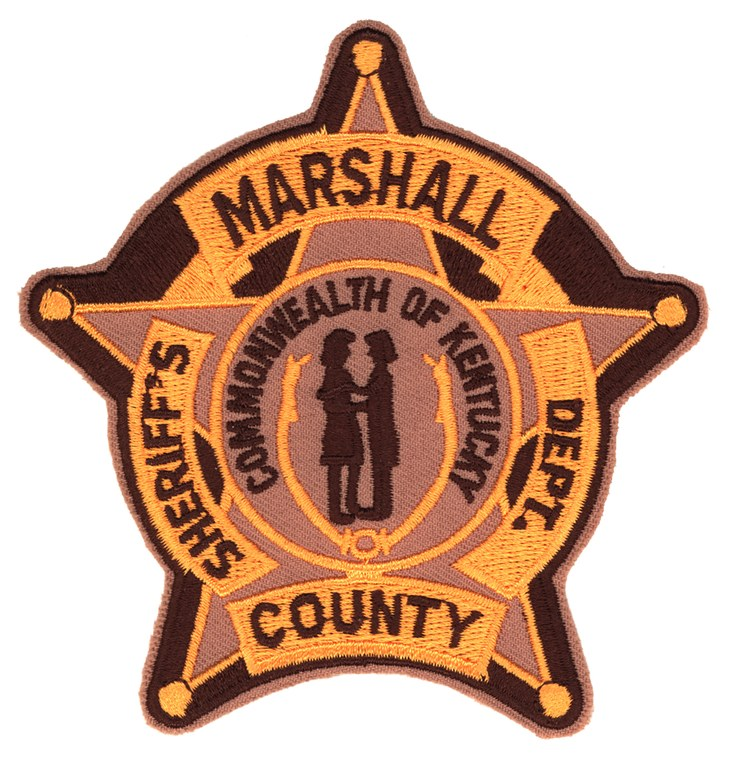A scanned image of the Marshall County, Kentucky, Sheriff's Department shoulder patch.