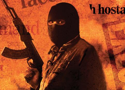 Masked Man Holding Gun