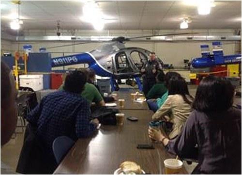 Aviation Unit Commander Lieutenant Cline Addresses Media