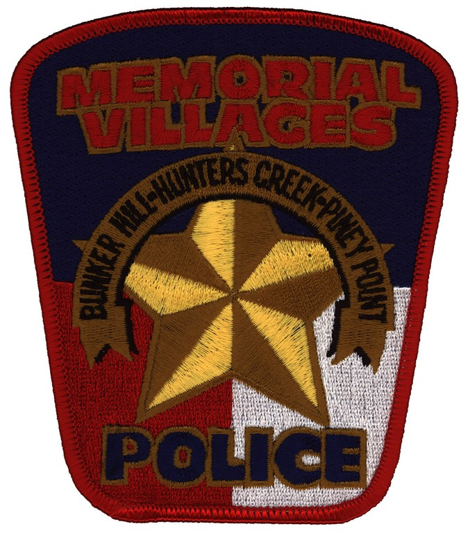Patch of the Memorial Villages Police Department in Houston, Texas.