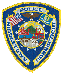 The patch of the Middletown, Connecticut Police Department was implemented in fall 1975 as a tribute to the upcoming bicentennial.