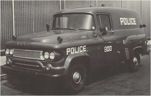 Archive photo of a mobile command vehicle from 1964
