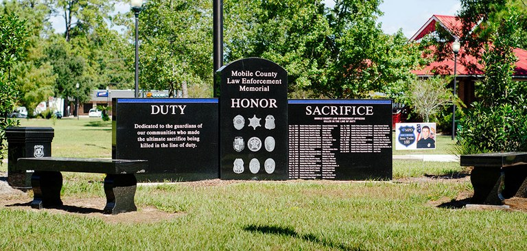 The Mobile County, Alabama, law enforcement memorial.