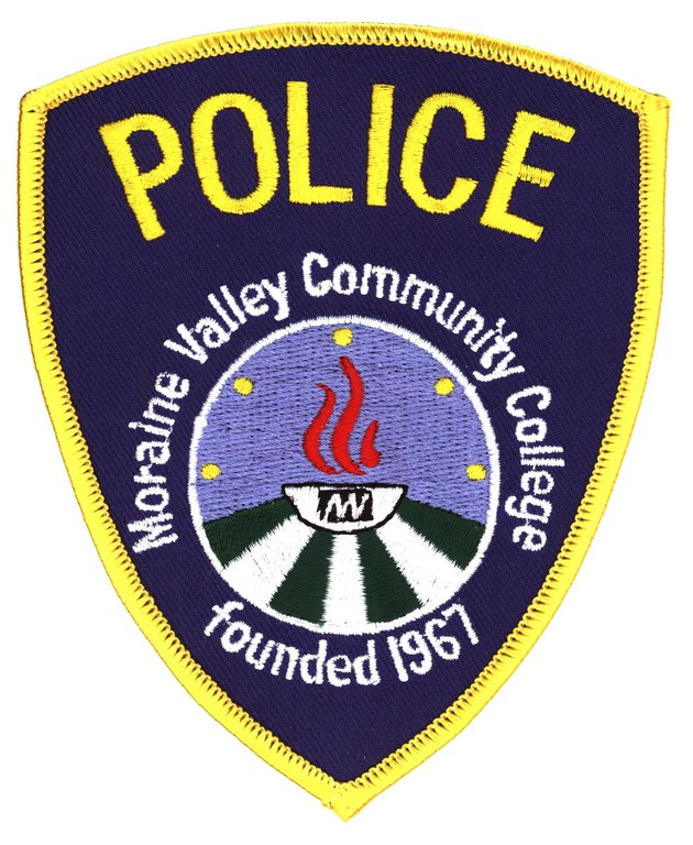 The shoulder patch of the Moraine Valley Community College Police Department.