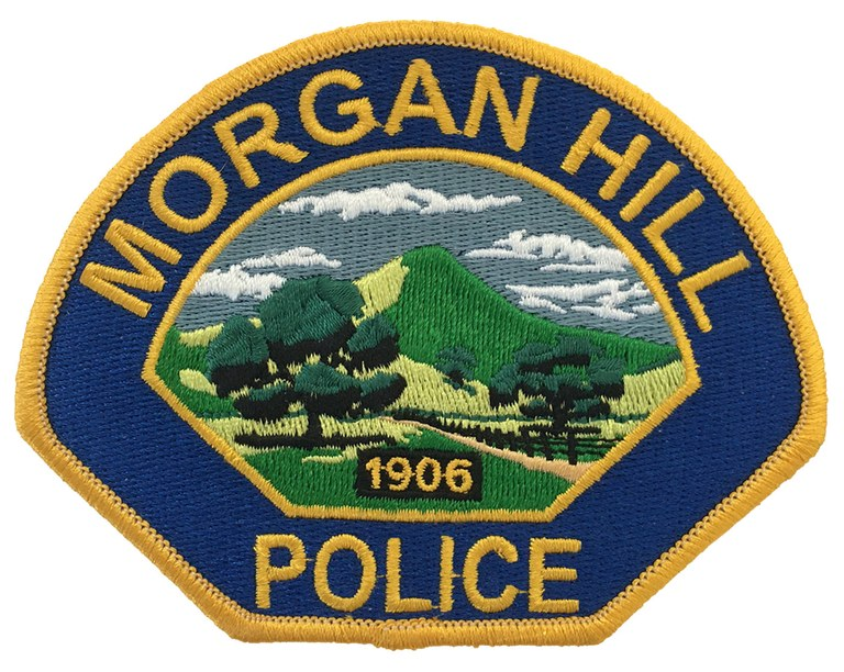 The shoulder patch of the Morgan Hill, California, Police Department.