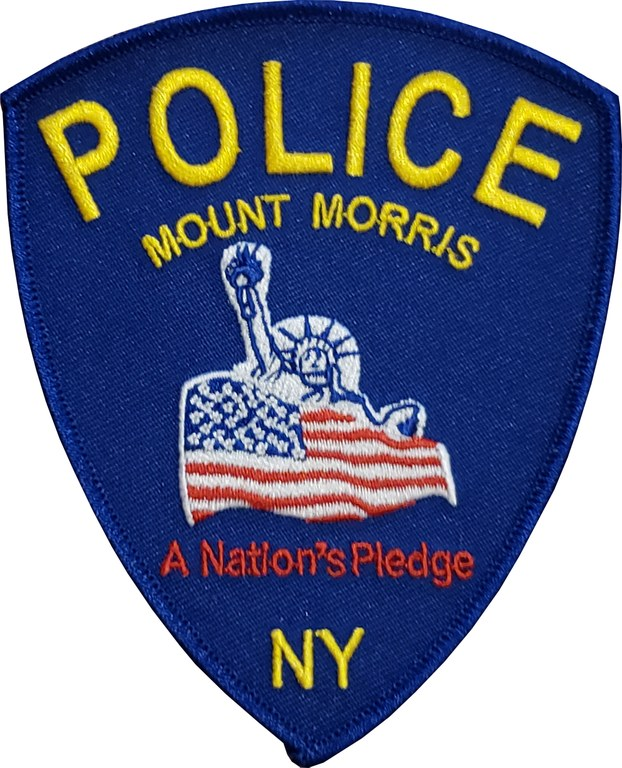 The shoulder patch of the Mount Morris, New York, Police Department.
