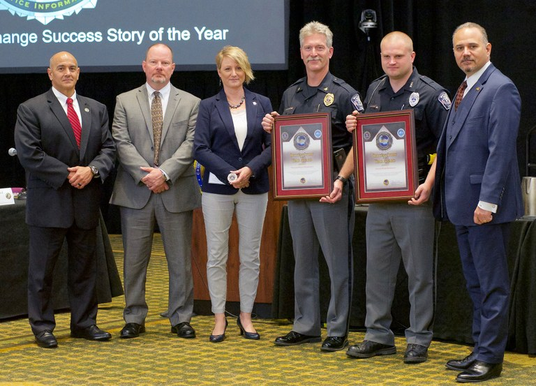 A photo of the N-DEx award recipients for the success story of the year.