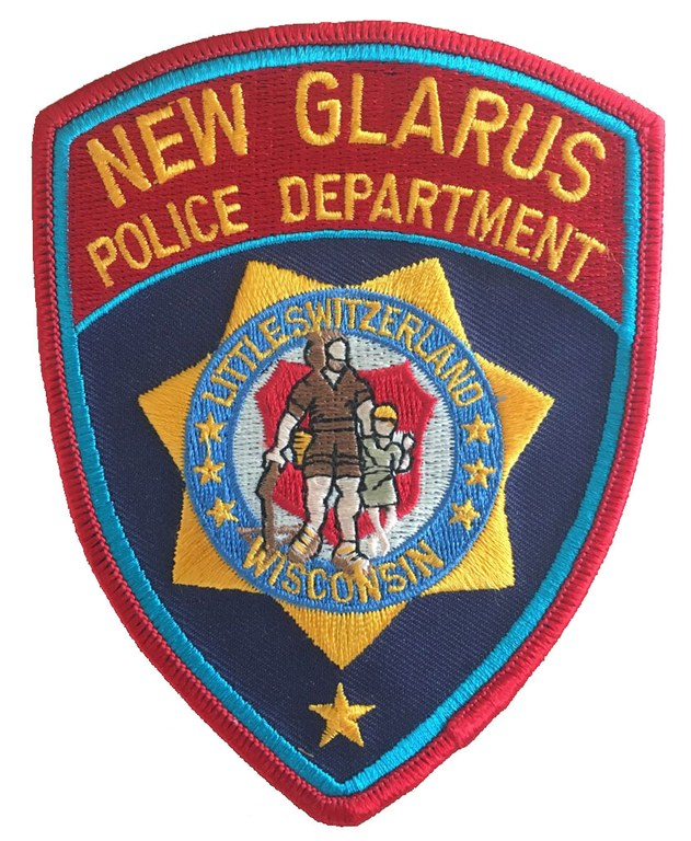 The shoulder patch of the New Glarus, Wisconsin, Police Department.