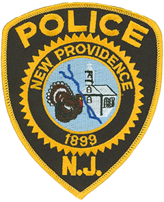 "Though New Providence, New Jersey, was incorporated in 1899 its rich early history is depicted on the borough's police department patch. Settlers first moved to the area in 1720 and named their new home ""Turkey"" due to the nearby abundance of wild turkeys. Thirty-nine years later when the balcony of the local Presbyterian Church collapsed during a meeting with no serious injuries the community changed the name of the settlement to reflect their perceived Divine Providence. Bisecting the church and the turkey on the patch is Salt Brook, so named when settlers rebelled against new taxes on salt and dumped their supply into the stream that flows through the community."