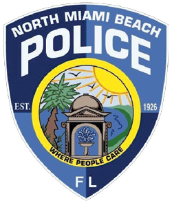 The city of North Miami Beach, Florida, was established in 1926 as Fulford by the Sea. Shortly after its founding, a hurricane destroyed three of the four stone water fountains built at the city's four corners. The remaining fountain, which still stands, is depicted as a symbol of perseverance on the patch of the city's police department. The patch also depicts the city's popular seashore, a palm tree, and the sun with rays, three symbols reminiscent of the Great Seal of Florida.
