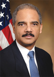 Photo of former Attorney General Holder.