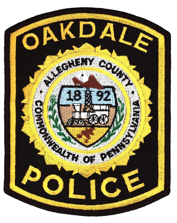 The shoulder patch of the Oakdale, Pennsylvania, Police Department.