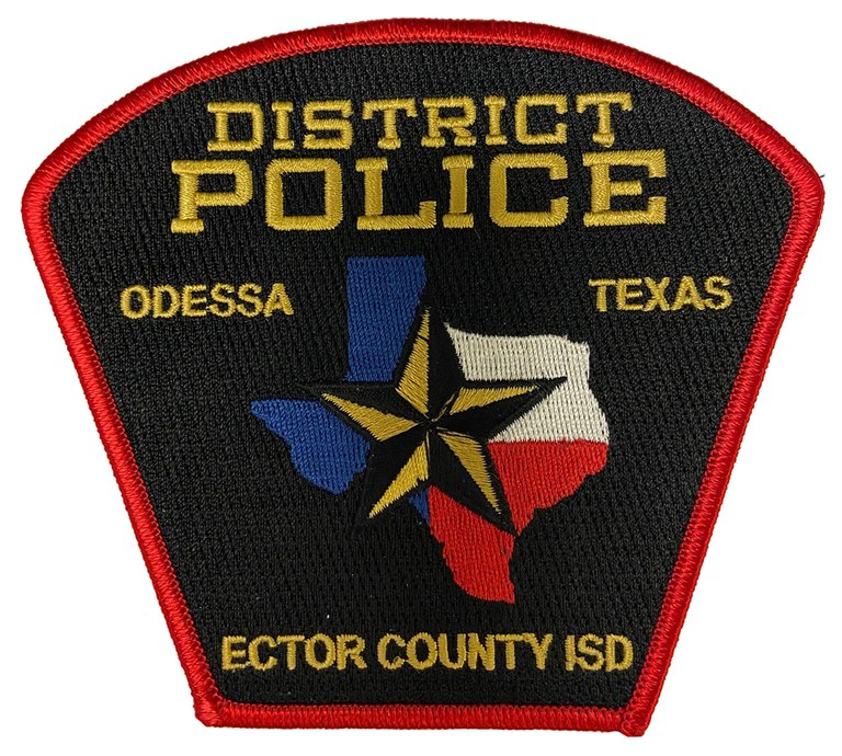 The shoulder patch of the Ector County, Texas, Independent School District Police Department.