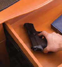 Pistol in a Drawer