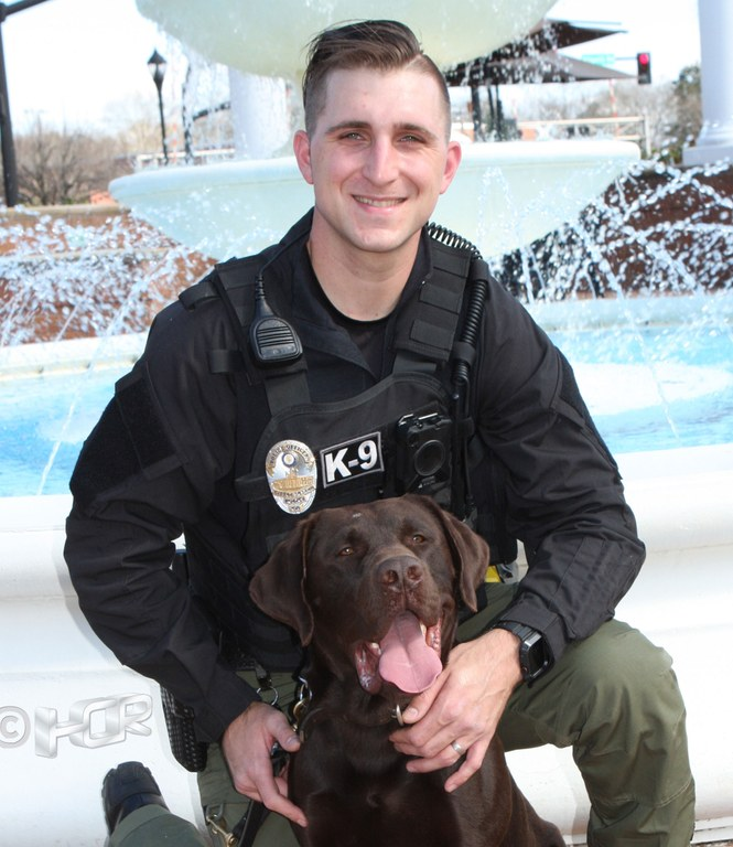 K9 Officer Daniel Sperano of the Smyrna, Georgia, Police Department.