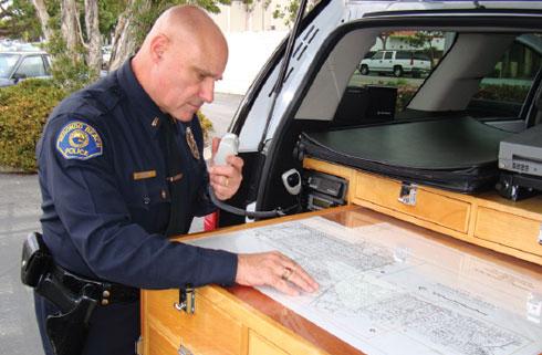 Officer Looking at Diagram