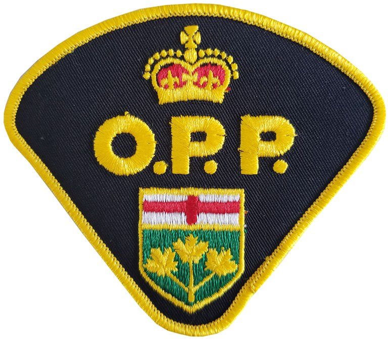 The shoulder patch of the Ontario, Canada, Provincial Police.