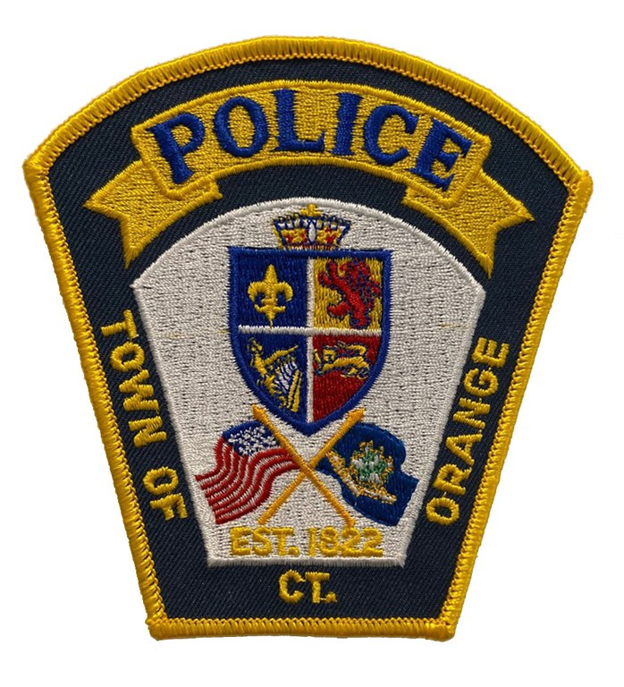 The shoulder patch of the Orange, Connecticut, Police Department.