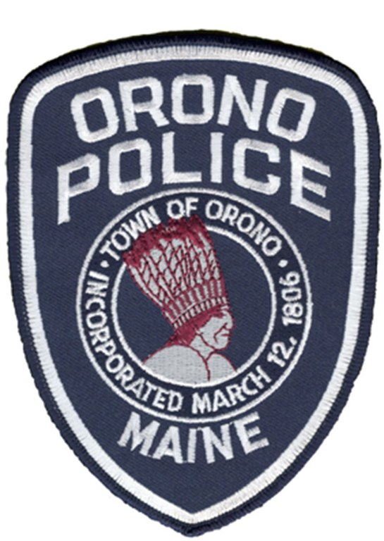 An image of the should patch of the Orono, Maine, Police Department.