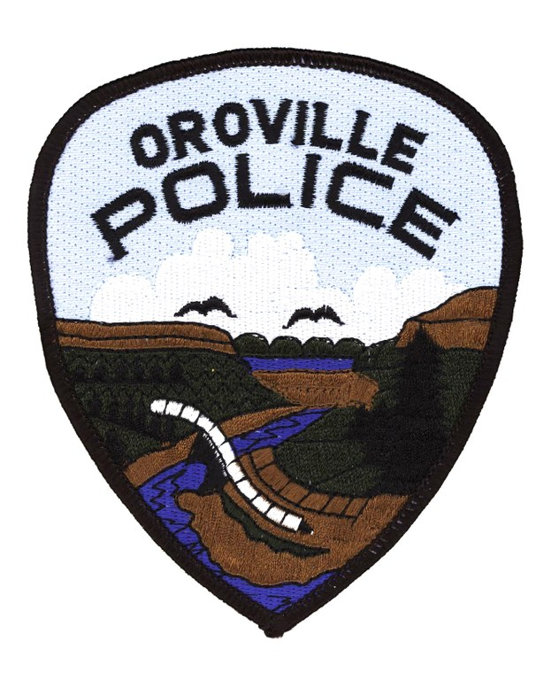 A scanned image of the Oroville, California, Police Department's shoulder patch.