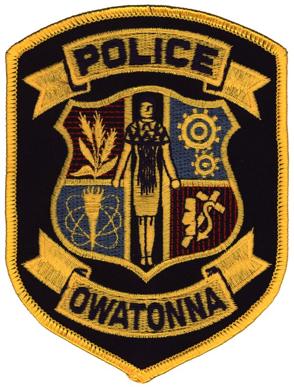 Shoulder patch of the Owatonna, Minnesota, Police Department.