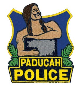 The patch of the Paducah, Kentucky, Police Department depicts Chief Paduke of the Chickasaw Indians, who lived and hunted in the location of the city. Legend has it that he met with George Rogers Clark when the famous soldier visited the area.