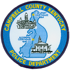 The patch of the Campbell County, Kentucky, Police Department depicts a representation of the county in its background, complete with a rendering of U.S. Route 27 traversing from north to south. Also pictured are two historic courthouses in the cities of Newport and Alexandria. The seat of government for Campbell County was moved from Newport to Alexandria in 1840, though the prior city was allowed to form its own courthouse district in 1883. As of November 2010, a state court ruled that both cities are county seats, making it one of 34 counties in United States to be dual seated.