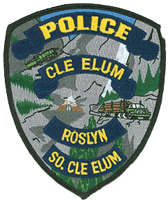 "The Cle Elum-Roslyn-South Cle Elum Police Department has the unique responsibility of providing police services to three cities in Kittitas County, Washington. The department's service patch honors each of these unique and historical communities. The railroad history of South Cle Elum is depicted at the top of the patch through a locomotive climbing a mountain range. The coal mining legacy of Roslyn is remembered through a coal mine depicted in the center. The logging history of Cle Elum is signified via the logging truck shown on the right. From 1990 to 1995 Roslyn served as the background for the fictional town of Cicely on the TV show ""Northern Exposure."""