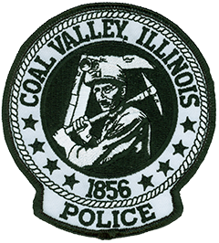 The black-and-white patch of the Coal Valley, Illinois, Police Department prominently features a coal miner standing at the opening of a mine. Coal Valley was incorporated in 1856 and named after the Coal Valley Mining Company, formed locally that year. From its inception to the mid-1870s, the village experienced a coal mining boom, with many other mining companies moving in. Though the mines have been closed since 1942, Coal Valley is proud of its rich heritage.