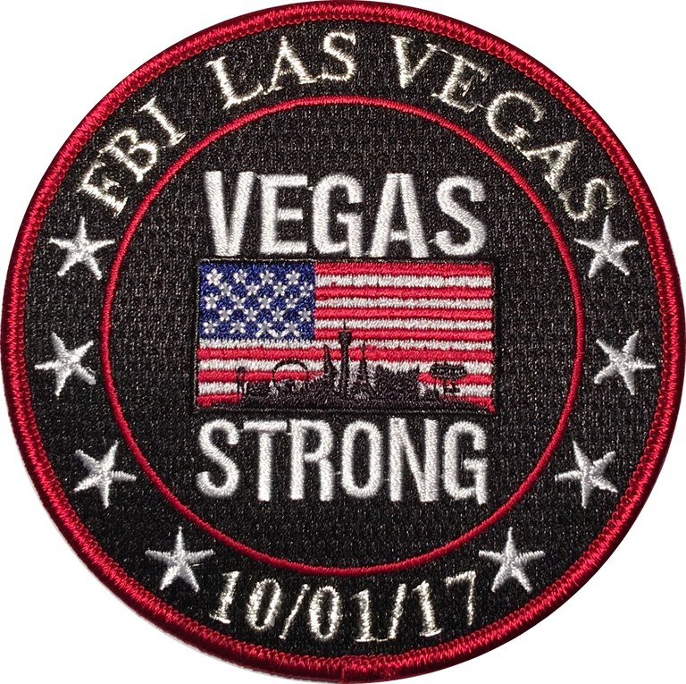 Patch created for the FBI Las Vegas Field Office after the worst mass shooting in U.S. history, which took place in Las Vegas, Nevada.