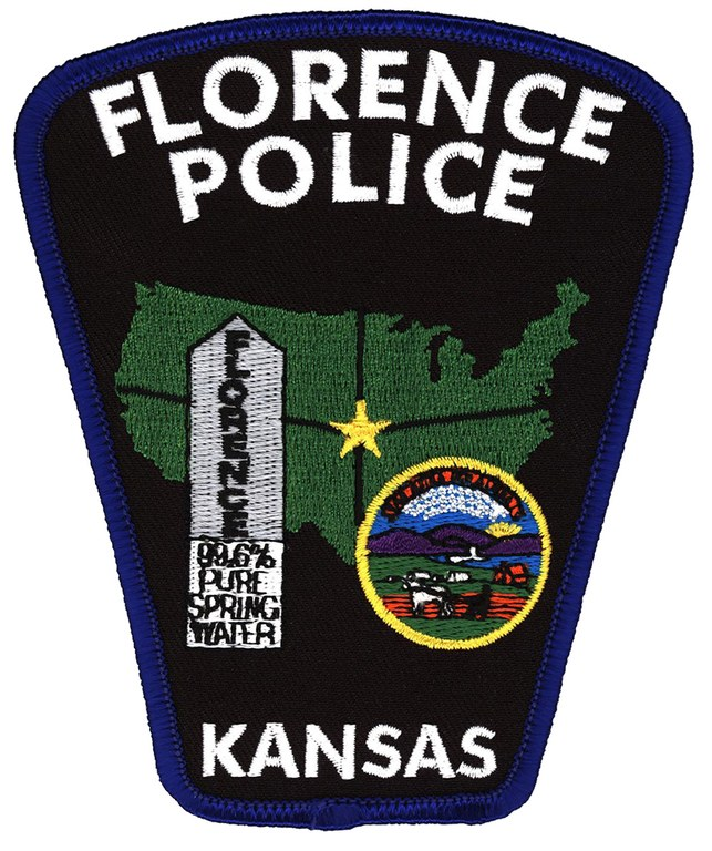 A scanned image of the Florence, Kansas, police shoulder patch.