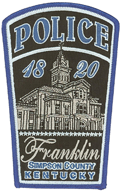 Named after Benjamin Franklin, the city of Franklin, Kentucky, was founded in 1820 and is the county seat of Simpson County. The Franklin Police Department was organized the same year, commemorated on the agency's service patch. Also featured on the patch is the historic Simpson County Courthouse, built in 1882 and situated on Franklin Square, a local meeting place. On March 1, 1968, music legends Johnny Cash and June Carter Cash were married in Franklin.