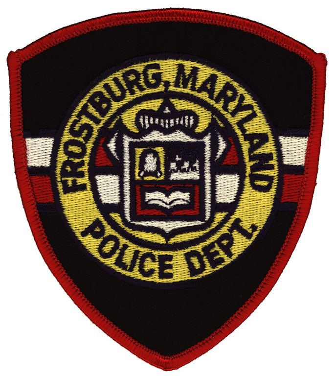 A scanned image of the Frostburg, Maryland, police department patch.