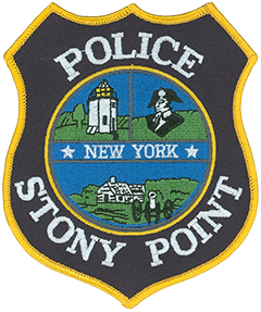 "All three depictions on the patch of the Stony Point, New York, Police Department are a reference to the significant role the town played in the Revolutionary War. The Battle of Stony Point, which took place on July 16, 1779, was a quick and daring assault on a British outpost that afforded the Continental Army a major morale victory. The Stony Point Lighthouse, built in 1826, sits on the site of the battle and is depicted on the left. A bust of General ""Mad"" Anthony Wayne, the architect of the battle, is shown on the right. At the bottom is a Revolutionary-era building and artillery piece on the Stony Point Battlefield adjacent to the Hudson River."