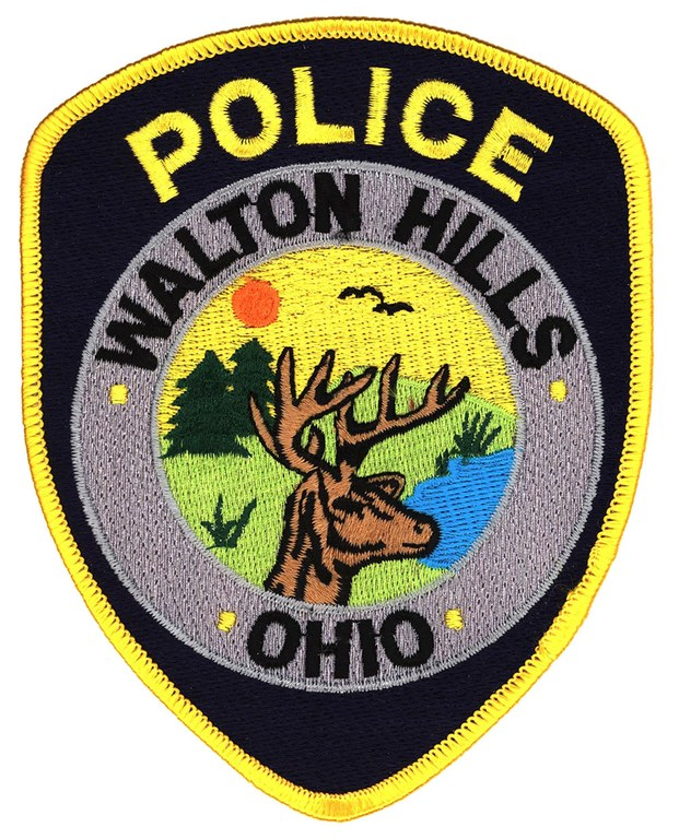 A scanned image of the Walton Hills, Ohio, police shoulder patch.
