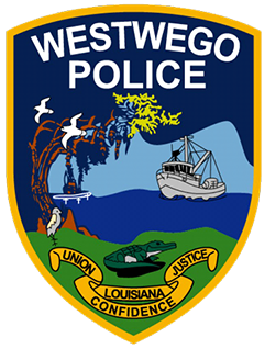 "The city of Westwego, Louisiana, is a suburb of New Orleans along the west bank of the Mississippi River. The service patch of the Westwego Police Department depicts a fishing trawler, symbolizing a long history of fishermen in the area earning a living on the bayous among cypress trees and swamp wildlife. Below this scene is Louisiana's motto, ""Union, Justice, and Confidence,"" which represents the strong bond between the police department and its community. In the late-19th century, Westwego was the location from which the Texas and Pacific Railway Company, compensated by the state, built a railroad into the West. Folklore holds that as travelers departed the station they heard the conductor yell ""west we go,"" lending the city its name."