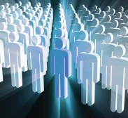 Graphic Showing Rows of Human Figures (Stock Image)