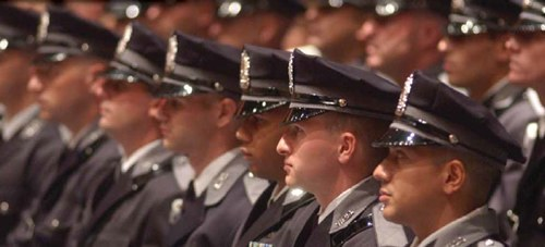 Law Enforcement Officers at Formal Event