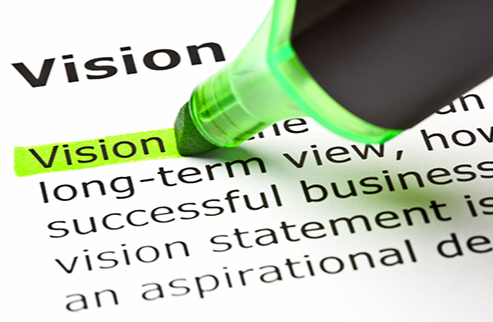 """Stock image of a highlighter marking the definition of """"vision."""""""