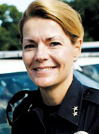 Mrs. Rich-Goldschmidt, a retired police chief from the Colorado State University Police Department in Fort Collins, Colorado, is an adjunct professor and independent consultant.