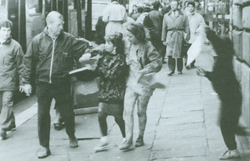 While vacationing in Rome, Italy, Richard T. Richards, a volunteer for the Chatham, New Jersey, Emergency Squad, captured on camera a three-member pickpocket team in action.